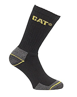 CAT Workwear Crew Sock - 3 pack