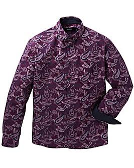 Black Label Dark Paisley Shirt Long