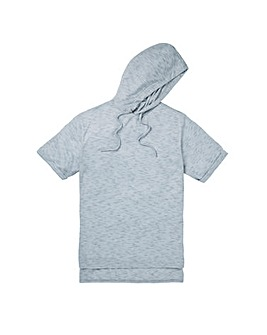 Label J Textured Hooded Tee