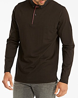 Black Label Long Sleeve Trim Polo Long
