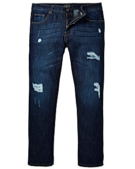 Label J Ripped Tapered Jean Short