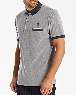 Black Label Marl Pique Polo Regular