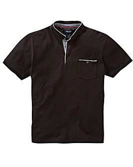 Black Label Grandad Trim Polo Long