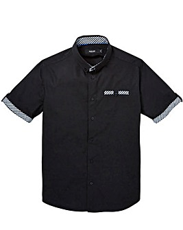 Black Label Gingham Trim Shirt Long