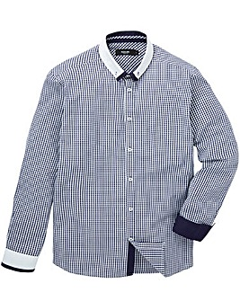 Black Label Gingham Shirt With Trim