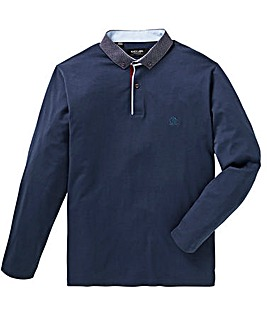 Black Label Long Sleeve Trim Polo Reg