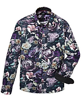 Black Label Floral Print Shirt Long