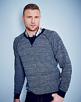 Flintoff By Jacamo Crew Neck Jumper Long