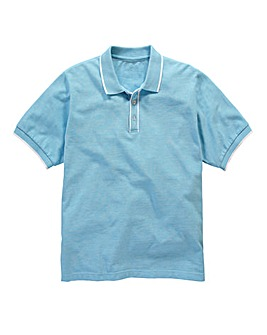 Jacamo Piped Placket Polo Long