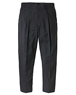 Jacamo Black Single Pleat Trouser 35In