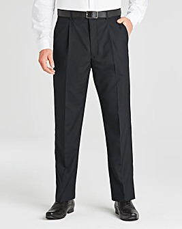 Jacamo Black Single Pleat Trouser 33In