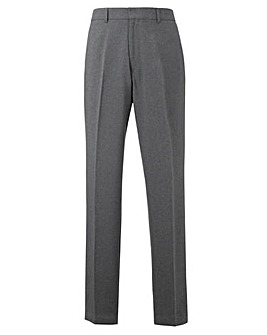 Jacamo Charcoal Easy Care Trousers 29In