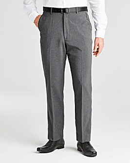 Jacamo Charcoal Easy Care Trousers 27In