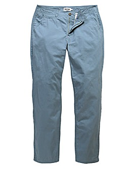 Jacamo Dusky Blue Basic Chino 33In