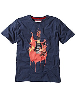 Joe Brown Flaming Guitar T-Shirt Reg