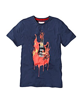 Joe Brown Flaming Guitar T-Shirt Long