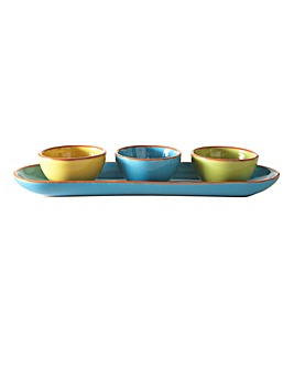 Sardinia Set 3 Mini Bowls and Tray
