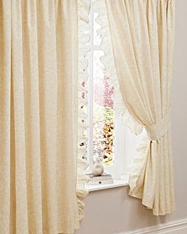 Nina Pencil Pleat Curtains & Tiebacks