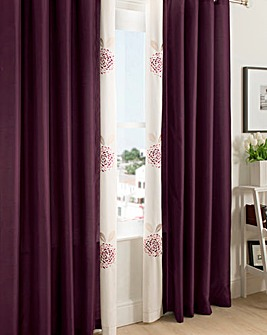 Carly Eyelets Lined Curtains & Tie Backs