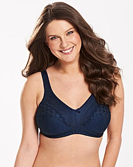 2 Pack Sally Nat/Navy Minimiser Bras