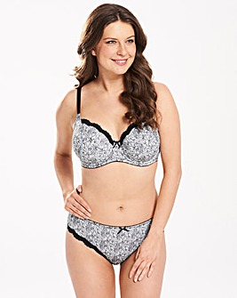 2 Pack Sophie Full Cup Black/Print Bras