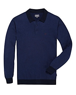 Peter Werth Tall Knitted Polo Shirt