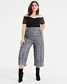 Pink Clove Pink Check Culottes