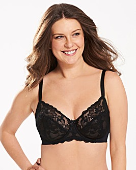Ivy Lace Full Cup Black Bra