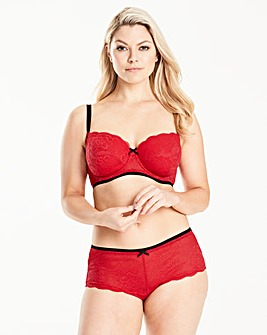 2 Pack Imogen Red/White Balcony Bras