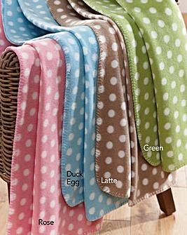 Polka Dot Fleece Blanket Pack of 2