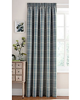 Made to Measure Mull Check Curtains