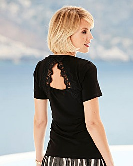 Nightingales Lace Back Jersey Top