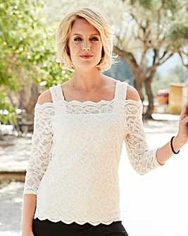 Nightingales Lace Bardot Top