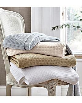 100% Cotton Waffle Blanket