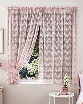 Voile Sized Net Curtain Pair