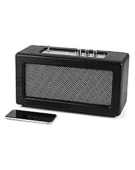 Retro Leather Amp Speaker Black