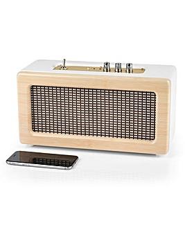 Retro Leather Amp Speaker Wood / White
