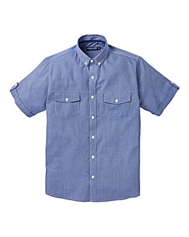 Premier Man S/S Blue Stripe Shirt