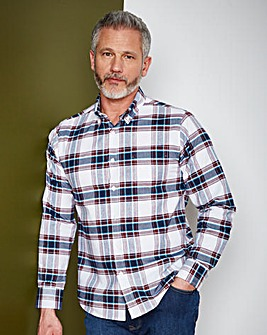 WILLIAMS & BROWN Check Oxford Shirt Long
