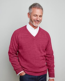 WILLIAMS & BROWN V Neck Jumper Regular