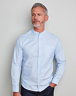 Capsule Blue L/S Grandad Oxford Shirt L