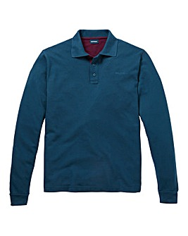 Southbay Unisex L/S Teal Pique Polo