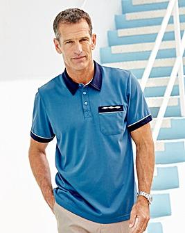 Premier Man Blue Tailored Collar Shirt