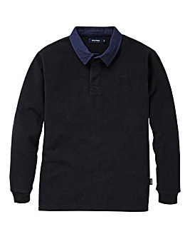 Southbay Unisex Black Fleece Rugby Shirt