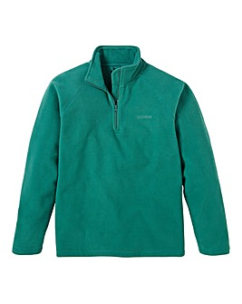 Southbay Unisex Green Zip Neck Fleece