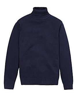 Southbay Unisex Navy Roll Neck Jumper