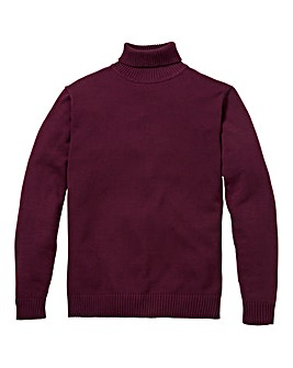 Southbay Unisex Plum Roll Neck Jumper