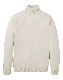 Southbay Unisex Cream Roll Neck Jumper