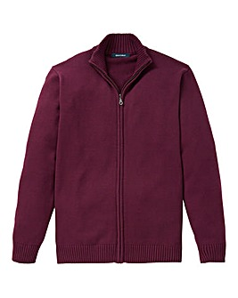 Southbay Unisex Plum Zipper Cardigan