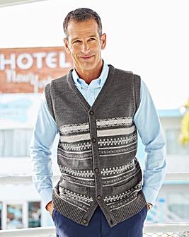 Premier Man Knitted Jacquard Waistcoat
